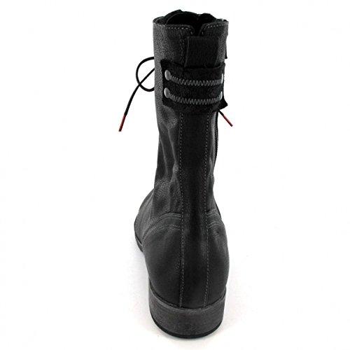 Think Denk, Stivali Desert Boots Donna Nero (Sz/kombi 09)