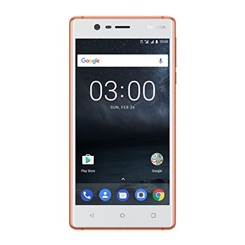 Nokia 3 DUAL SIM Smartphone - VERSION 2017 deutsche Ware (12,7 cm (5 Zoll), 8MP Hauptkamera, 8MP Frontkamera, 2GB RAM, 16GB interner Speicher, MP3 Player, Android 8.0 Oreo) copper weiß