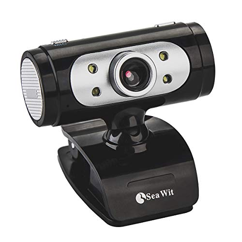 CHENGCHI HD Webcam 720P, Alta Definición con Micrófono y Luz LED, Compatible con Skype, MSN, Youtube, Webcam de USB Plug and Play para Ordenador, PC, Portátil, Soporte Llamadas y Grabación de vídeo