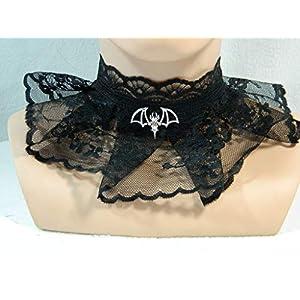 Halsband schwarz Fledermaus Bat Gothic sexy Lolita Gothic Karneval Pin up Choker
