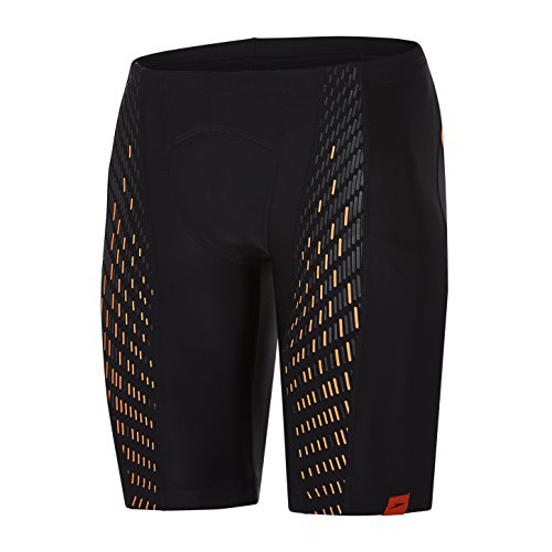 Speedo Herren Fit Powermesh Pro Jammer, Black/Fluo Orange, 34