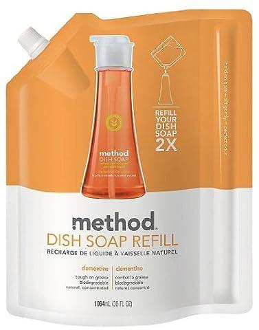 Dish Soap Refill, Clémentine, 36 fl oz (1064 ml) - Méthode