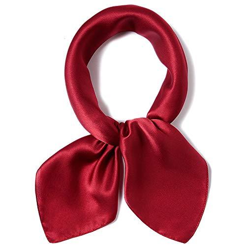 Reinigen, Satin-handtasche (Junjiagao Damen Seidenschal Satin Square Head Kleiner Schal Halstuch Stewardess Hand Kopf Handtasche Multiuse 65cm (Farbe : 6, Größe : 65 * 65cm))