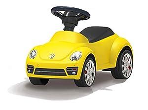 Jamara 460408-Correpasillo VW Beetle Antivuelco, Claxon en el Volante, Aspecto auténtico, Color Amarillo (460408)