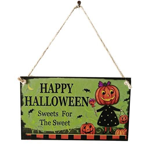 Regard Natral Holz Kürbis Brief Halloween Hängen Türdekoration Wandschilder für Hauptschule-Büro-Partei-Dekor-Hanger-Zeichen