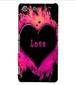 ColourCraft Love Heart Design Back Case Cover for SONY XPERIA M5 E5603 / E5606 / E5653