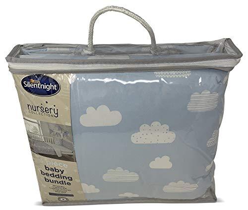 Silentnight - Juego de ropa de cama para bebé, colcha estampada, protector de cuna impreso, sábana...