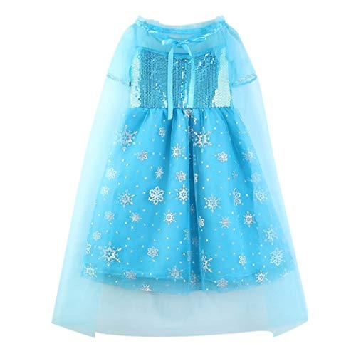 Cuteelf Halloween Kleid Baby Halloween Cosplay Schneeflocke Tüll Kleid + Mantel Kleidung in der Kinder Mädchen Königin Prinzessin Kleid Mesh Kleid Gurt Mantel zweiteilig