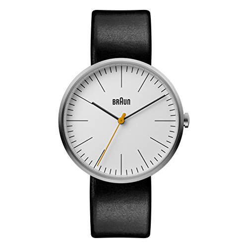 Braun Mens Quartz Watch, Analogue Classic Display and Leather Strap BN0173WHBKG