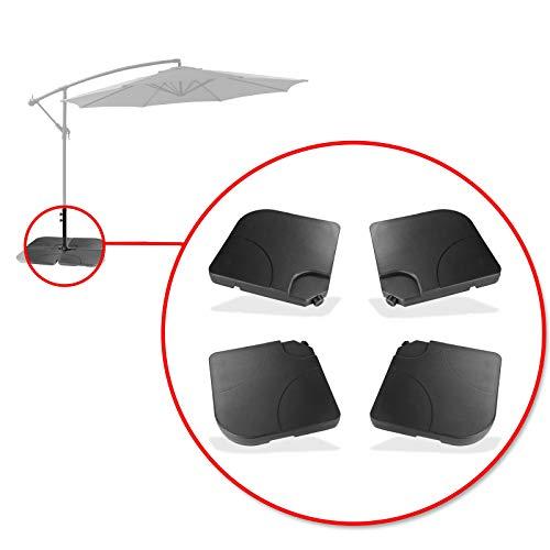 TronicXL 4 x Gewichte Gewicht für Sonnenschirmständer Ampelschirm Ständer Sonnenschirm Universal beschwerung beschweren Wasser/Sand füllbar