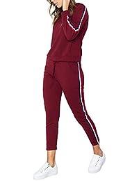 Logobeing Camisetas Deporte Mujer Fitness Manga Larga Tallas Grandes Chándal  Sudaderas Pantalones Juegos Deportivos Desgaste Traje 7acfb69992fe