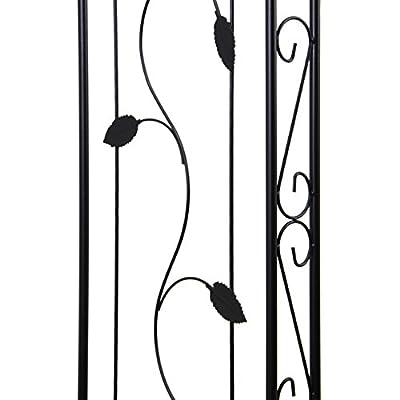 Nexos ZGE36128 Rosenbögen Rosenbogen Torbogen Rankhilfe Pergola Spalier weinblatt Tor Rosen Bogen Metall, schwarz von Nexos bei Du und dein Garten
