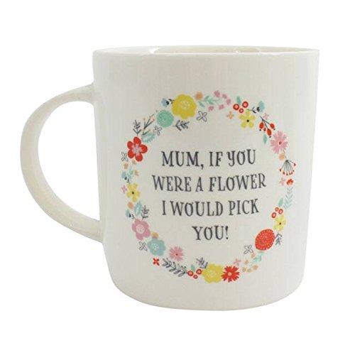 Brown & Ginger Mum, Wenn Sie Waren Ein Flower I 'd Pick You 'Bone China Floral Box Kaffeebecher-Perfekte Geschenk für Mutter 's Day. Bone China Flower