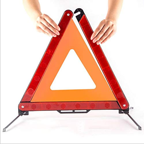 WEIYIQ Auto Sicherheit Notfall Reflektierende Warnschild Dreieck Auto Stativ Fehler Straßenrand 2er Pack
