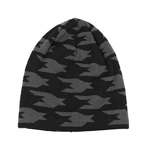 HAOLIEQUAN Hommes Femmes Chapeau en Tricot Surdimensionné Baggy Slouchy Beanie Chapeau d'hiver Chaud Chapeau d'hiver Plus Velvet Bone Hip-Hop Cap Hiver Femmes Chapeaux