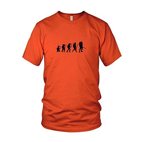 Turtle Evolution - Herren T-Shirt, Größe: XXL, Farbe: orange (Teenage Ninja Kostüm Turtle Mutant Orange)