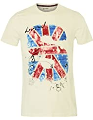 DESIGUAL Homme Designer Top T-Shirt - ENGLAND -
