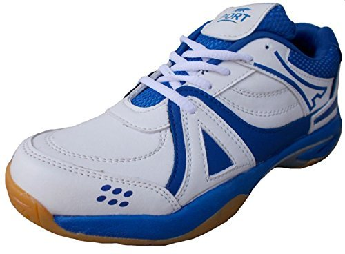Port Men's Synthetic Badminton Shoes(Size 9 UK/IND,Act)