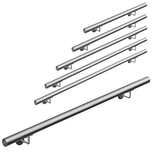 400cm MCTECH/® Gel/änder Edelstahl Handlauf Treppengel/änder Wandhandlauf Wandhalter f/ür drinnen und drau/ßen Treppen Balkon Br/üstung