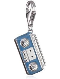 Esprit Damen-Charms radio 925 Sterlingsilber hellblauer Lack ESCH90959A000