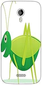 Snoogg cute cartoon vector grasshopper Designer Protective Back Case Cover For Micromax A116