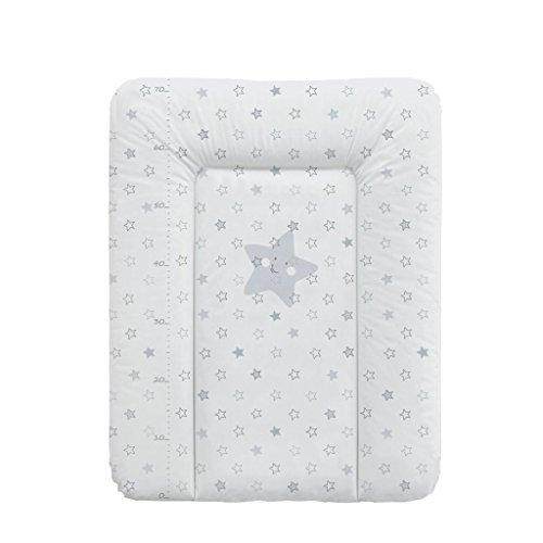 Babycalin - Colchón cambiador Confort Etoile de color beige, 50x 70cm-con un metro impreso gris Talla:50 x 70 cm