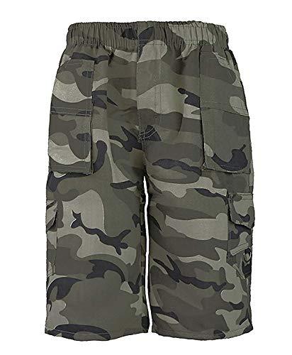 RageIT Lotmart Kinder Uni & Tarnung Viele Taschen Shorts Jungen Armee Aufdruck Cargo Combat - Tarnung Khaki, 13-14 Years -