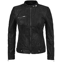 DESIRES Hame - Chaqueta de Cuero para Mujer, tamaño:S;color:Black (9000)