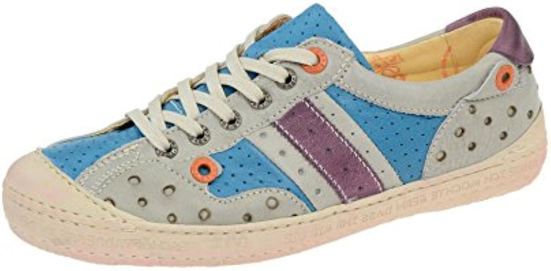 Eject 17585 - Zapatos de cordones de Piel para mujer Azul azul