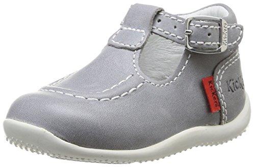 Kickers Bonbek, Chaussures premiers pas bébé fille Gris (121 Gris Clair)