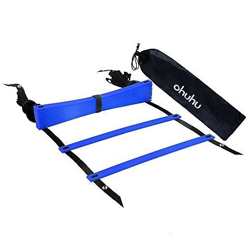 Ohuhu 12 Escalera Agilidad con Bolsa de Transporte, Azul