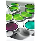 India Enamel & Aluminium Spring Set of 6 Coasters Turquoise