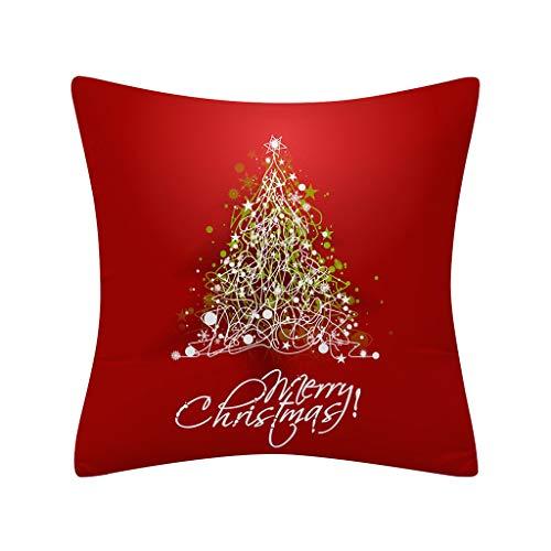 Yearnly Weihnachten Kissenbezug Rot Kissenbezüge Dekoration für Christmas Home Decor 45 x 45 cm (Mülleimer Baby Kostüm)