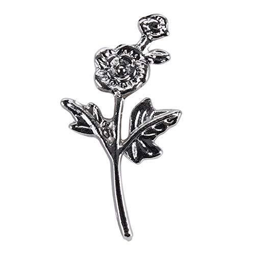 WEILYDF Rose Blume Brosche Klassische Vintage Geschnitzte Brosche Frauen Abzeichen Brosche Schmuck Für Formale Anlässe