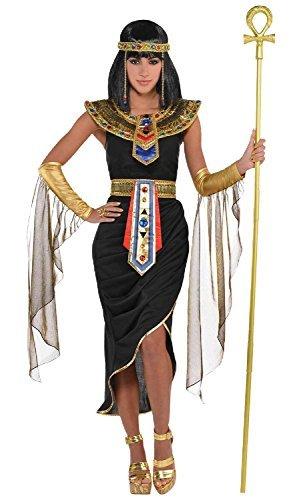 tra ägyptisch Queen Göttin schwarz gold Karneval International aus aller Welt historisch Kostüm Kleid Outfit UK 8-20 Übergröße - UK 10-12 (ägyptische Königin-kopfbedeckung)