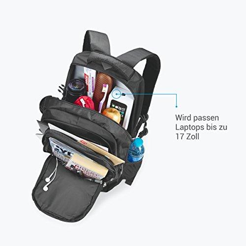 Rucksack für Herren und Damen von Camden Gear. Schulrucksack – Laptoprucksack für die Schule – Laptop – Wandern. Wasserdicht, Top mit mehreren Fächern. Schwarz und Grau - 4