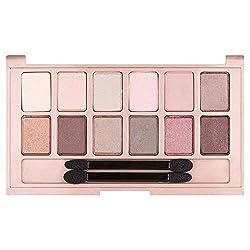 Maybelline The Blushed Nudes Palette, Lidschattenpalette, 12 perfekt untereinander kombinierbare Farbnuancen, matt, leuchtende und schimmernde Texturen, für verführerische Augen