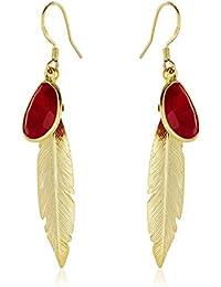 Córdoba Jewels | Pendientes en plata de Ley 925. Diseño Indian Rubí