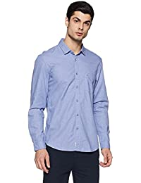 Indigo Nation Men's Printed Slim Fit Cotton Casual Shirt
