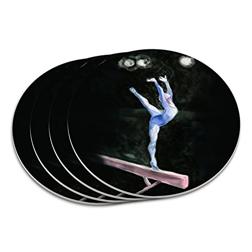 gymnaste-bleu-gymnastique-vault-cheval-darcons-dessous-de-verre