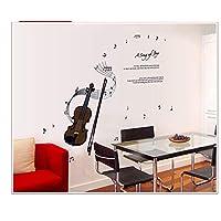XIAOBAOZIQT Wall Sticker Decal Decals Musical Notes Violin Children