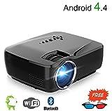 WJ HD 3D Projektor, Smartphone Gleichen Bildschirm 1200 Lumen Videospiel Beamer, Unterstützung Android Bluetooth WiFi Fernbedienung 1080P Heimkino Mit Brille