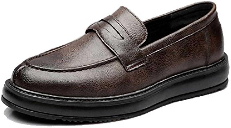 GBY Scarpe da Lavoro Formali da Uomo Classic Slip-on Mocassini in Pelle PU Casual Outsole Oxfords Traspirante... | di moda  | Scolaro/Signora Scarpa