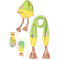 Kidorable Little Girls Woodland Fairy Acrylic Knitwear Scarf, Hat & Glove Sets 3-5 years