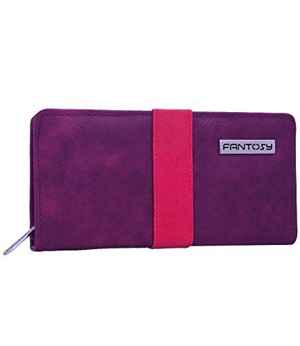 fantosy Purple & Beige Women's Wallet