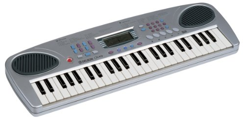 DELSON DELSON CK 49   TECLADO ELECTRONICO (JUNIOR  ABS  49 TECLAS  2 ALTAVOCES INTEGRADOS)  COLOR PLATEADO