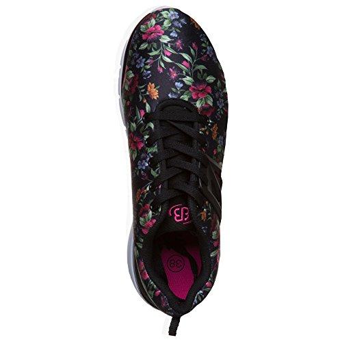 Bruetting, Sneaker donna Nero/Rosa