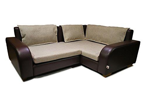 'Thor' - hundebett couch, Ecksofa für Hund, Katze, Farbe braun, kunstleder, HANDMADE