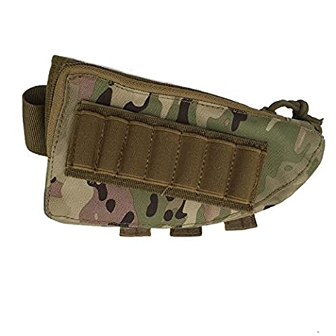 Tactical Rifle Shotgun Buttstock Cheek Rest Rifle Stock munitions Coque Trousse en nylon support Tan, cartouche de Coque support Cheek Rest Gun Stock, CP