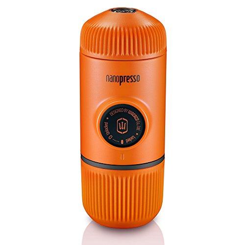 Wacaco Nanopresso Portable Espressomaschine, Upgrade-Version von Minipresso, 18 Bar Druck, Orange Patrol Edition, Extra kleine Reisekaffeemaschine, manuell betrieben. Vervollkommnen Sie für kleine Küche und Bürogebrauch